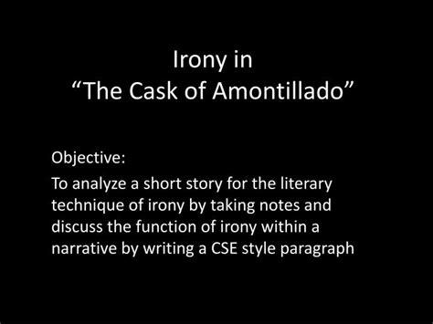 The Cask Of Amontillado Essay by Free Essay On The Cask Of Amontilla