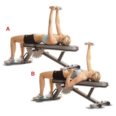 bench workout dumbbell bench press women