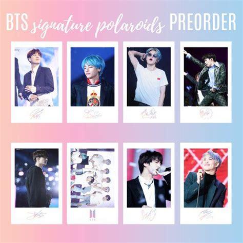 limited edition preorder bts polaroids photocards  signatures set   poster pra
