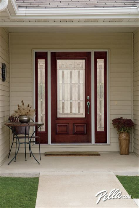 Pella Front Door Pella 174 Architect Series 174 Fiberglass Entry Doors Transform Your Home S View Traditional Entry