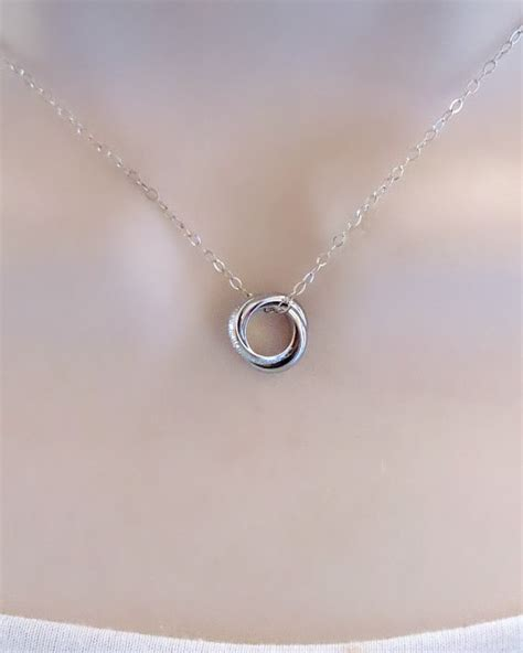3 ring necklace infinity necklace 3 necklace