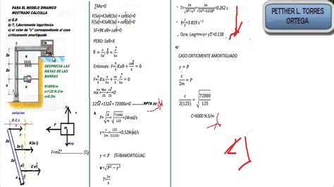 oscilacion fisica formulas fisica oscilaciones amortiguadas youtube