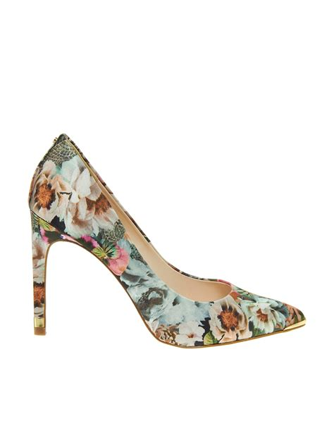Corset Detail Stiletto Court Shoe At Asos by Lyst Asos Ted Baker Luceey Tangled Printed Court Shoes
