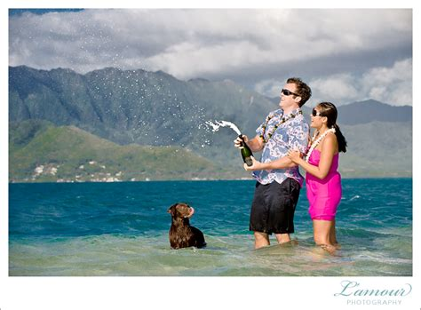 lamour photography video hawaii wedding photographer hawaii wedding photography sandbar engagement session