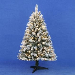 sears flocked trees trim a home 174 4 5ft flocked tree with clear lights