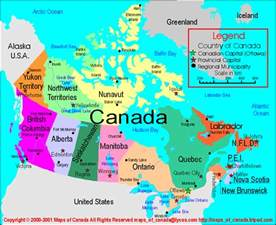 map canada provinces capitals