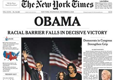 barack obama biography new york times new york times obama racial barrier falls in decisive
