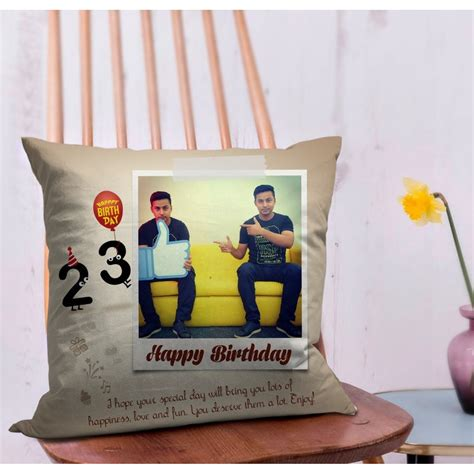 birthday gift for boyfriend personalized cushion