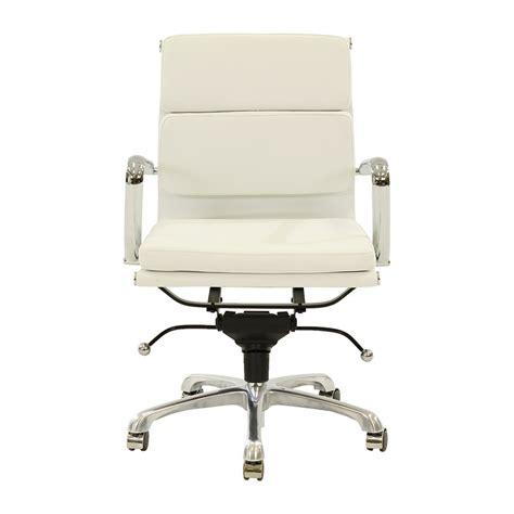 marconi white low back desk chair el dorado furniture