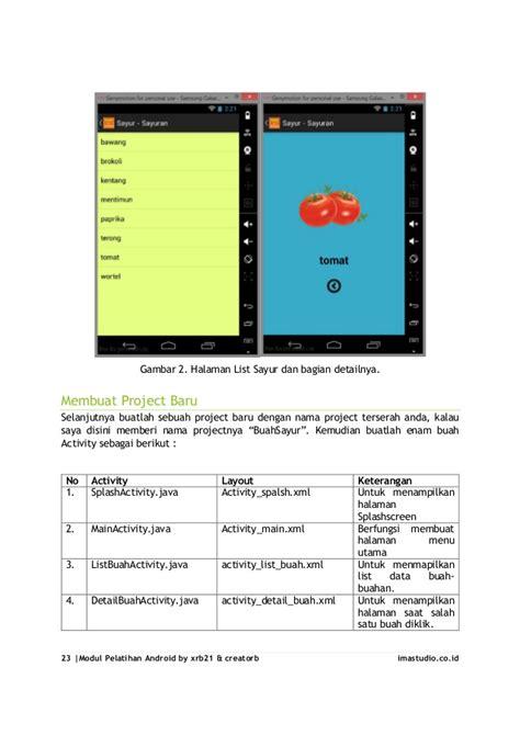 tutorial android studio lengkap pdf tutorial lengkap cara membuat aplikasi android sederhana