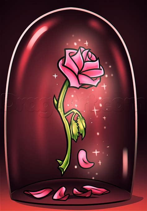 beauty and the beast rose drawing beginnger amp how to s