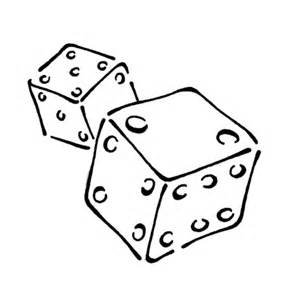 playing dice coloring page free printable coloring pages