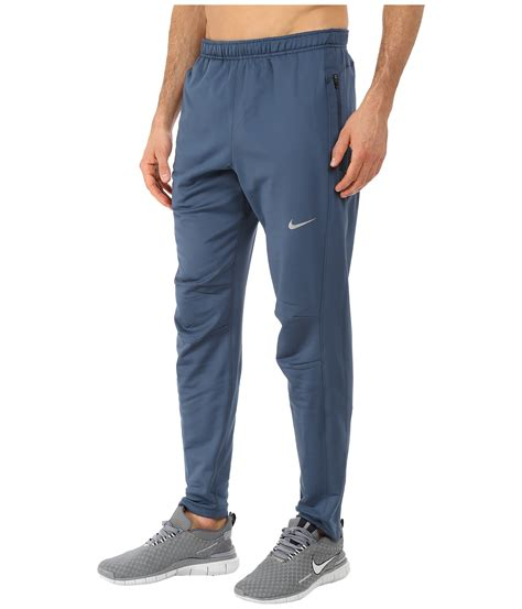 nike dri fit thermal in blue for lyst