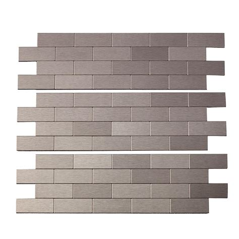 peel and stick peel and stick matted metal backsplash tiles aspect