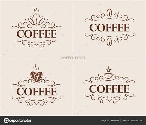 Fine Luxury Calligraphic Coffee Emblem Design Template Label Vector Vintage Coffee Logo Coffee Label Design Template
