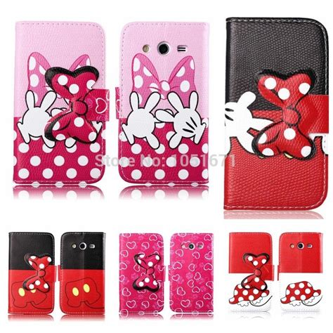 themes para samsung core 2 pu wallet minnie mickey mouse leather case for samsung