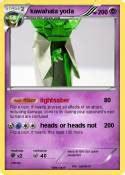 Kaos Yoda Poke pok 233 mon floating heads float my card