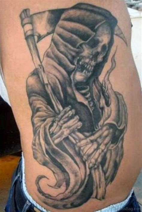 reaper tattoos for men 59 fabulous skull tattoos for rib