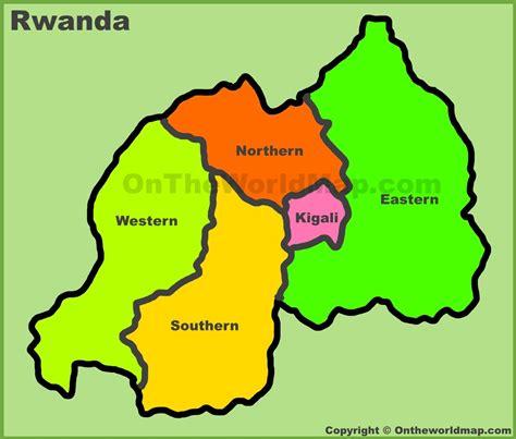 rwanda map administrative divisions map of rwanda