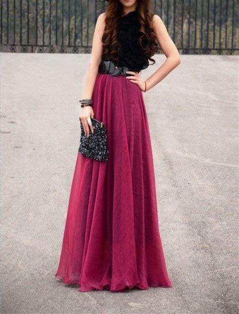 s wine silk chiffon 8 meters of skirt