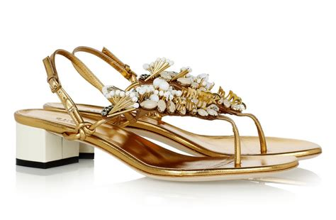 gold sandals for wedding gold embellished bridal sandals by gucci onewed