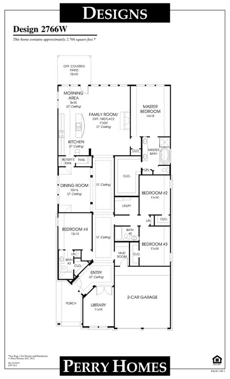 perry home floor plans perry homes floor plan for 2766w home ideas