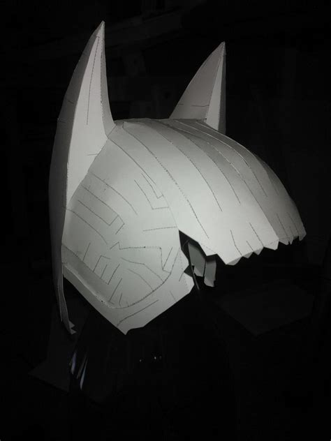 Papercraft Batman Mask - batman mask wip 1 by midnoonmoon on deviantart