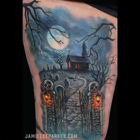 graveyard tattoo design pacific crest trail on arm best design ideas