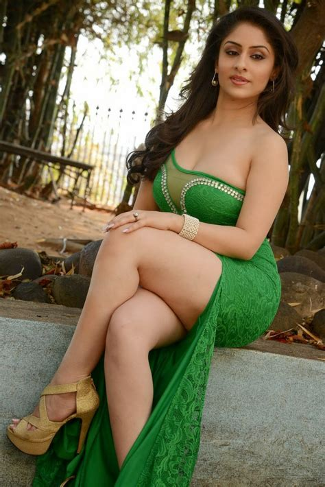 Ankita Sharma Thighs In Green Dress Collection