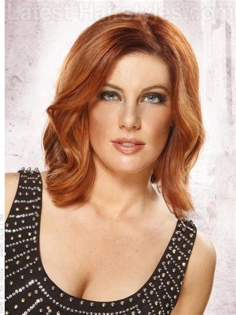 hair cuts where hair is tucked around the ear for seductive waves glorious color one hot hairstyle
