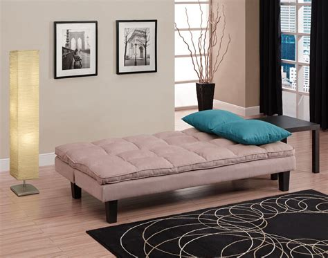 sofa bed teenager 3 position click clack futon sofa bed in tan twin size