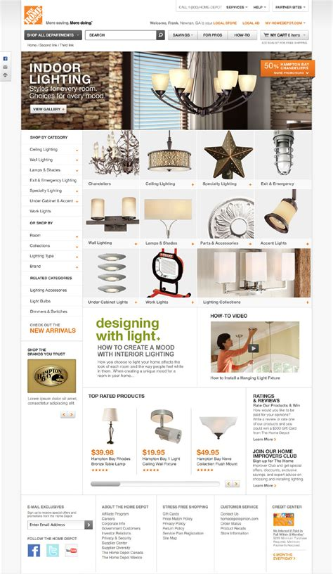 the home depot website redesign side show