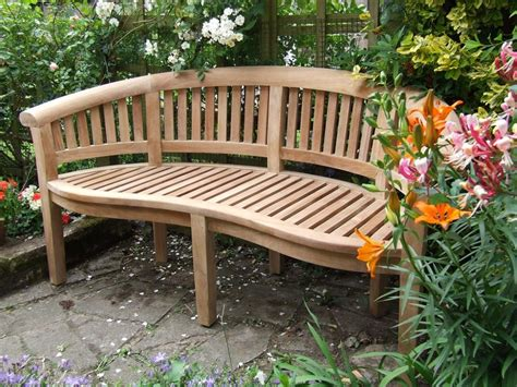 curved outdoor bench curved teak garden bench bali