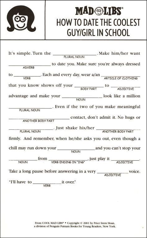 up letter mad libs 20 best mad lib script images on