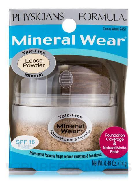 Mineral Wear Talc Free Mineral Powder mineral wear 174 talc free mineral powder