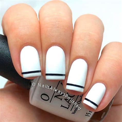 white nail polish  trends