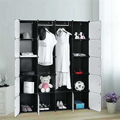 Kleiderschrank Plastik by Songmics Lpc30h Kleiderschrank Garderobenschrank