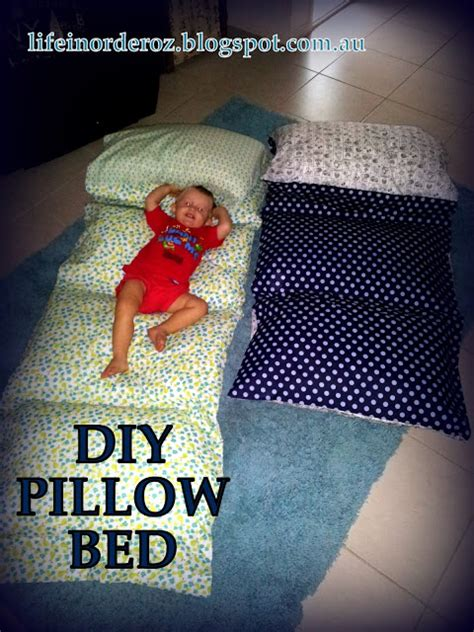 order of pillows on bed life in order diy pillow bed tutorial