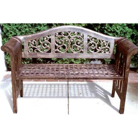 oakland living patio furniture oakland living 174 mississippi royal bench 122311 patio