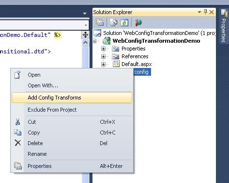 tutorial web config asp net tutorial web config transformation