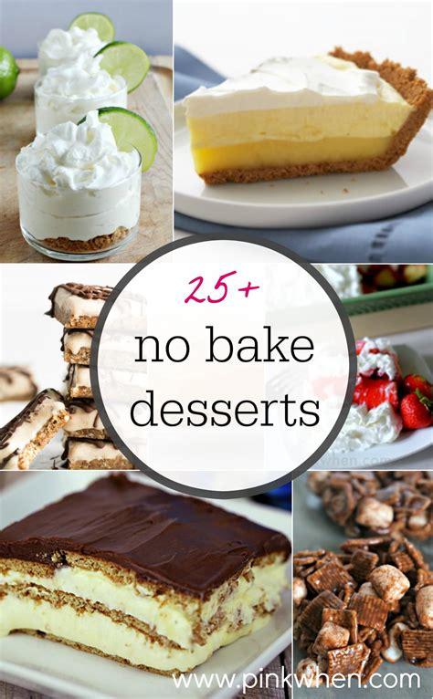 25 no bake dessert ideas pinkwhen