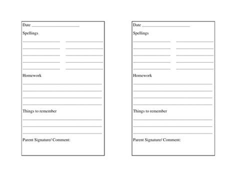 diary writing template ks1 printable homework diary by claireperriam teaching