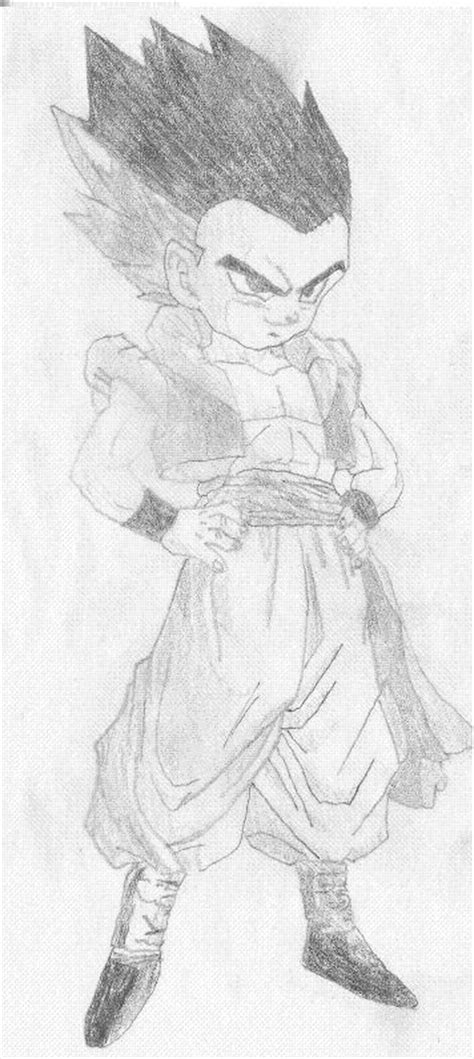 normal sketch drawing gotenks normal form by goncalo on deviantart