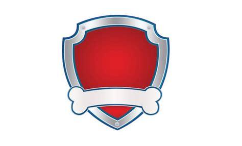 Paw Patrol Badge Outline Emblem Logo Image Clipart Transparent Background Png Digital 300 Dpi Paw Patrol Shield Template