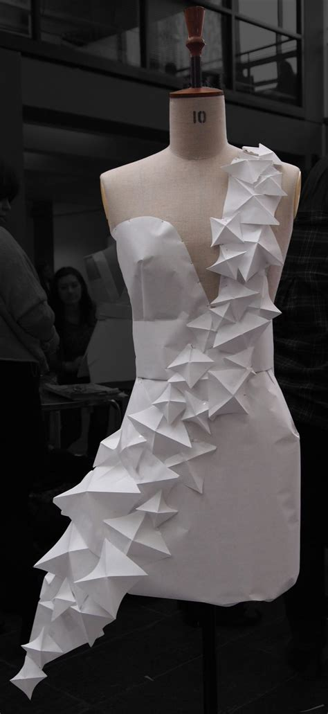 Paper Dresses - gaga inspired origami style paper dress by 2010 stage 1