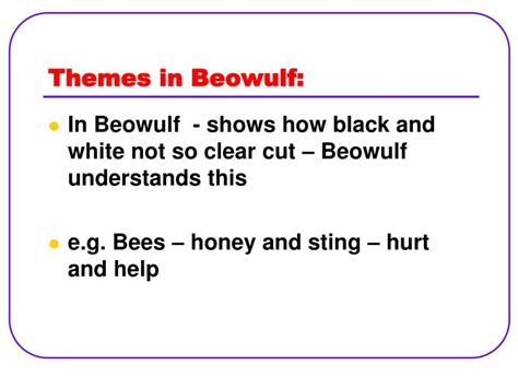 literary themes of beowulf ppt beowulf powerpoint presentation id 2720248