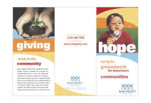 Fundraising Brochure Template by Community Non Profit Print Template Pack From Serif