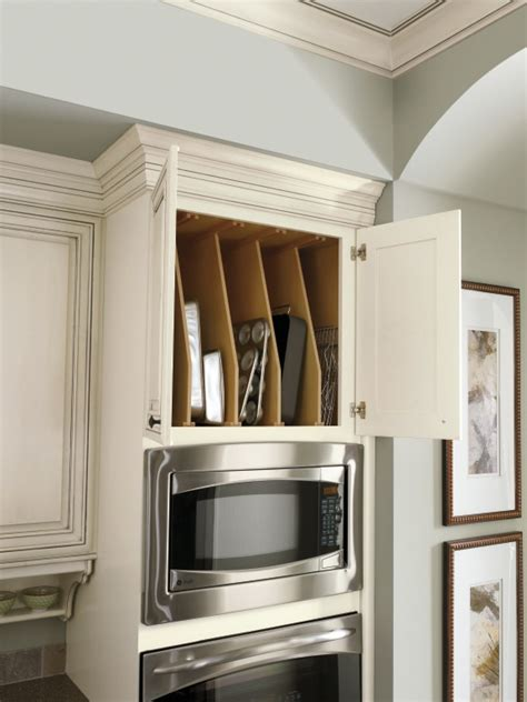 s tray divider cabinet keeps cookie sheets
