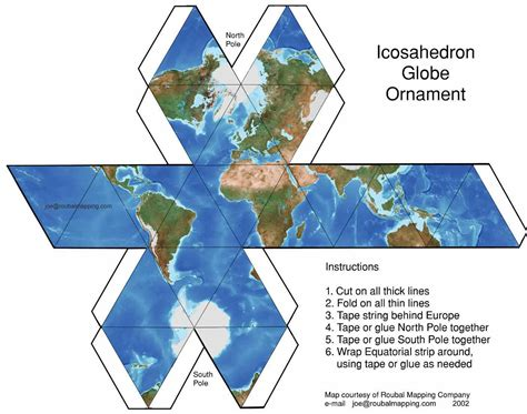 How To Make Paper Globe - roubal mapping map sles