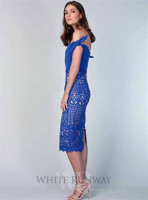 Audra Dress cornflower audra lace dress by honor
